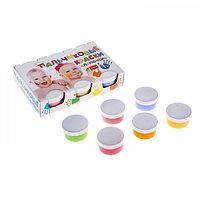 Краски пальчиковые набор 6 цветов*60 мл Спектр 360 мл Лапочки (от 1 года ) 13С-508