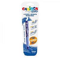 "Ручка ""пиши-стирай"" капиллярная CARIOCA Oops Retractable, 0.7мм, ластик, синяя 43042/02"