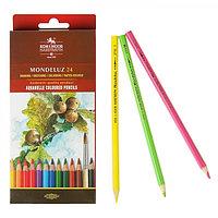 Карандаши цветные акварельные 24 цвета, Koh-I-Noor Mondeluz 3718, картонная упаковка