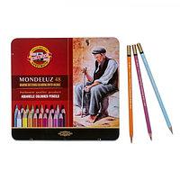 Карандаши акварельные Koh-I-Noor 3726/48, Mondeluz, 48 цветов, в металлическом пенале