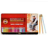 Карандаши акварельные Koh-I-Noor 3727/72 Mondeluz, 72 цвета, в металлическом пенале