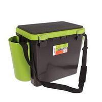 Ящик зимний Helios FishBox 19 л, односекционный, цвет зелёный