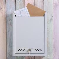 Ящик почтовый 'Маил', вертикальный, с замком, серый