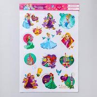 Наклейки детские в ванну в наборе 'Прекрасная принцесса', Принцессы
