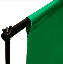 Студийный тканевый фон 4 м × 2,3 м зелёный, фото 3