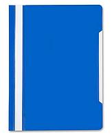 Скоросшиватель пластиковы Бюрократ A4, 160/180мкр синий