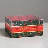 Коробка для кондитерских изделий с PVC крышкой Magic winter, 12 х 6 х 11,5 см (комплект из 10 шт.)