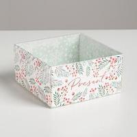 Коробка для кондитерских изделий с PVC крышкой Present, 12 х 6 х 11,5 см (комплект из 10 шт.)