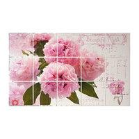 Наклейка на кафельную плитку 'Розовые пионы' 75х45 см