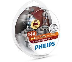 Галогеновые лампы Philips H4 X-tremeVision G-force +130%