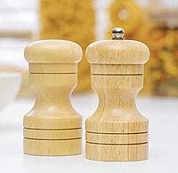 Набор для специй «Комфорт» 50 мл, 11×10×5 см, 2 шт: мельница, солонка, фото 1