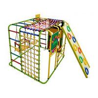 ДСК 'Кубик У Плюс' напольный для дома и улицы, 1210 x 1210 x 1150 мм, цвет салатовый/радуга