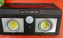Фонарь уличного освещения с датчиком движения на  солнечной батарее