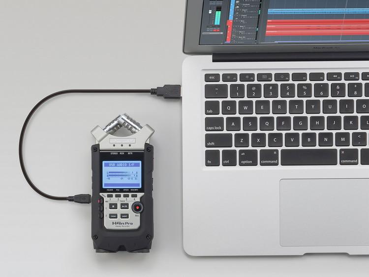 Многофункциональный портативный аудио рекордер на 4 дорожки, ZOOM H4n Pro - фото 6