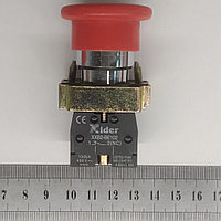 Кнопка промышленная с фиксацией (грибок) 1NC, фото 1