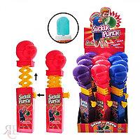 Леденец с фруктовым вкусом Боксёрская перчатка  Sucker Punch Candy Lollipop (кулак)  17 гр