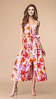 Платье Romanovich-1-1624/2, розовый/красный, 44