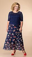 Платье Romanovich-1-1789/4, синие тона, 58