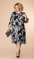 Платье Romanovich-1-2043, чёрный/белый, 54