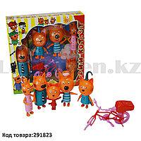 """Набор игрушек """"Три кота"""" с велосипедом Пикник"""