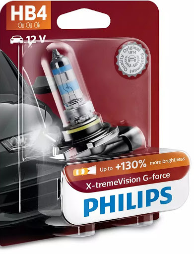 Автомобильные лампы Philips X-tremeVision G-force HB4