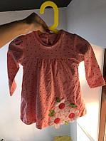 Платье розовое в горошек, фото 1