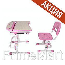 Растущая Парта-трансформер со Стулом Deluxe Для детей от 3 до 12 лет, Розовый DLCD-C304P