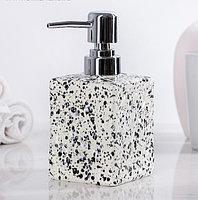 """Дозатор для жидкого мыла """"Гранит"""", цвет белый"""