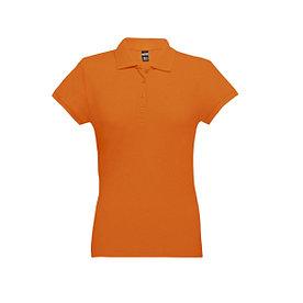 Рубашка поло женская Eve, оранжевая, S
