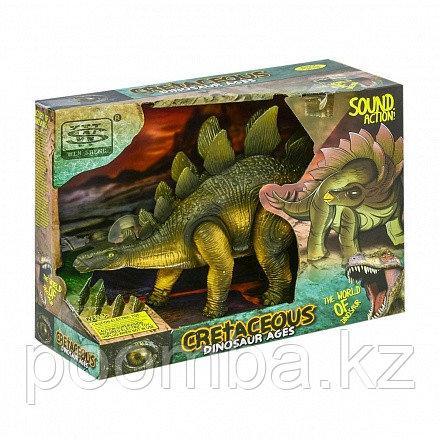 """Динозавр """"Стегозавр"""", световые и звуковые эффекты"""