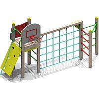 Игровой макет, скалодром, щит баскетбольный, сетка лазалка