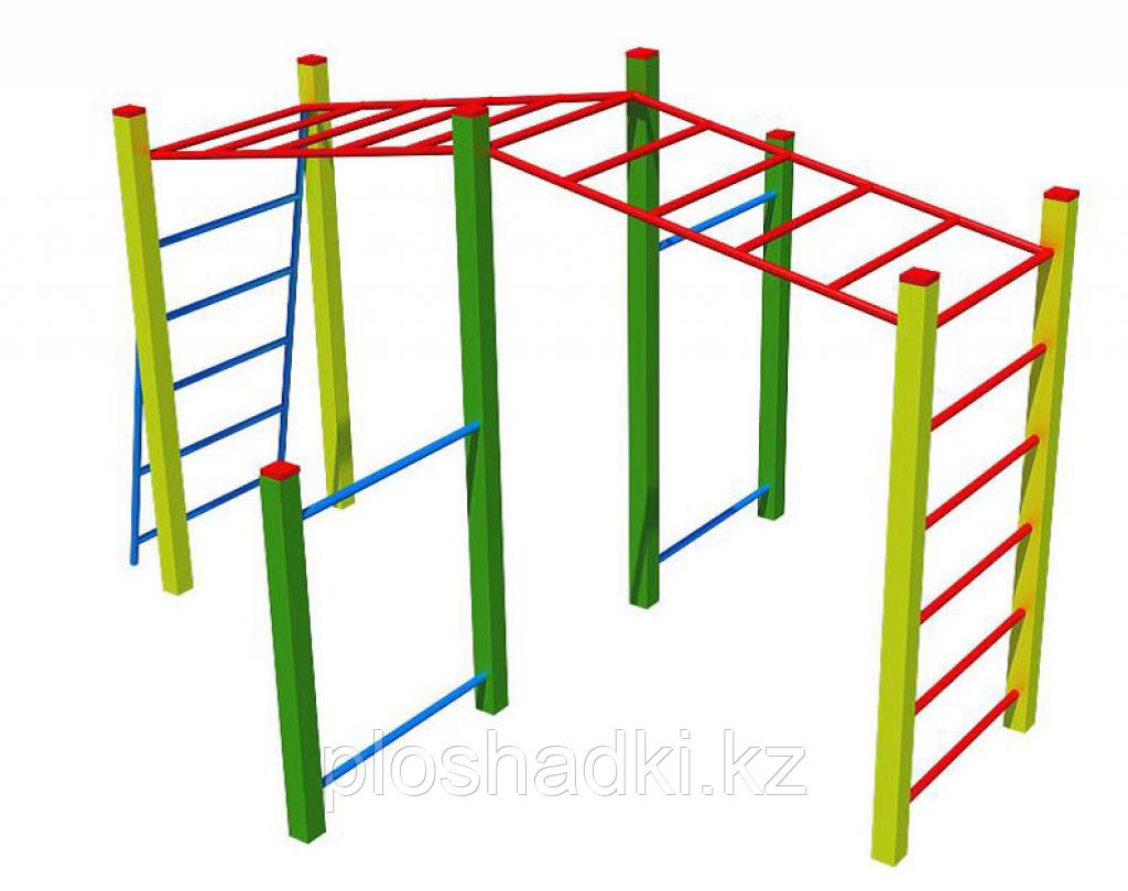 Игровой макет рукоход, шведская стенка, турник 2
