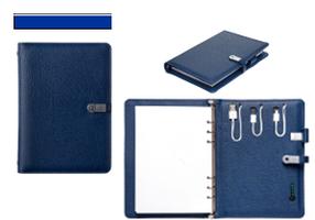 СМАРТ Органайзер с POWER BANK и USB накопителем синий