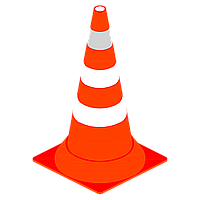 Конус дорожный сигнальный 520мм