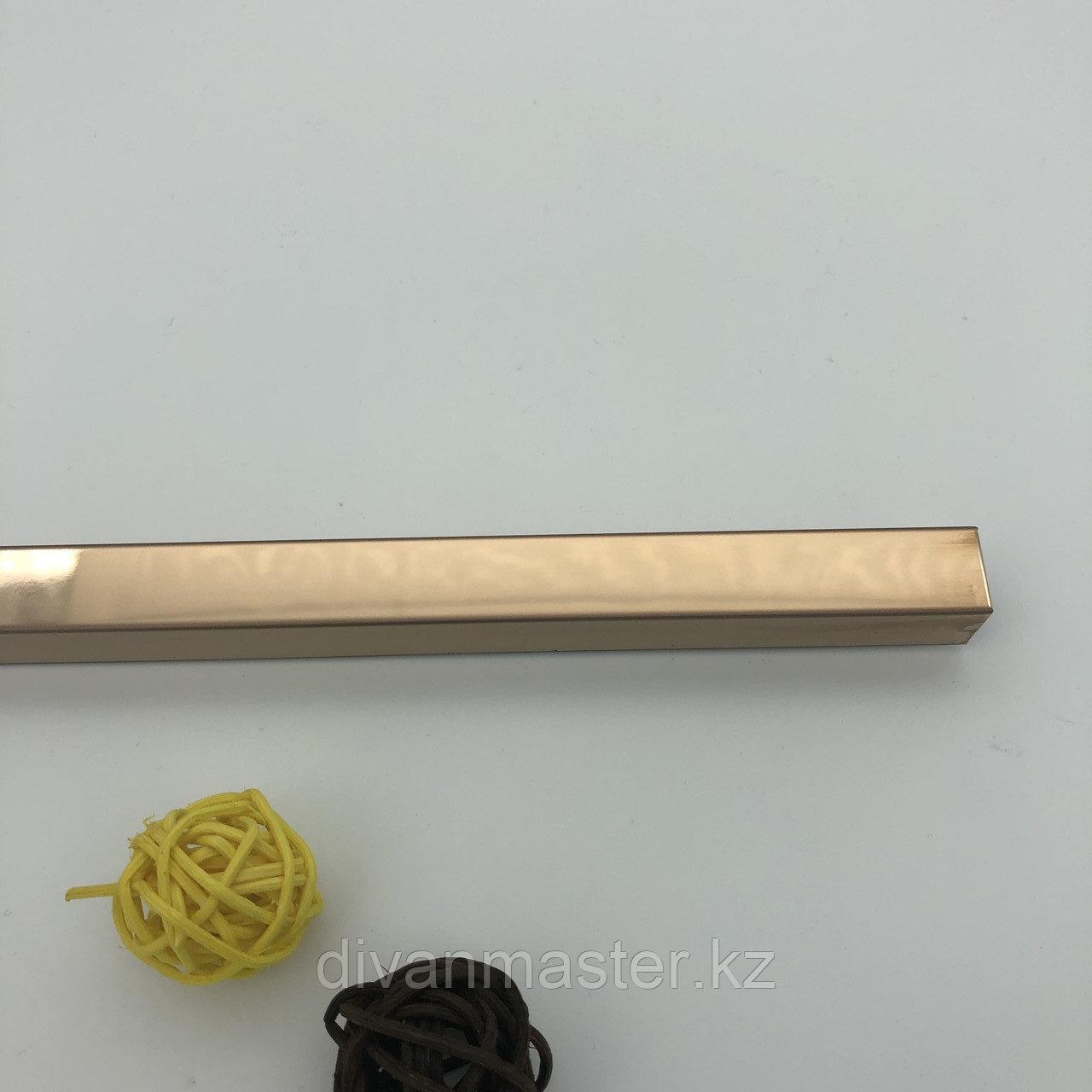 12*15, розовое зерк.золото - Профиль для декорирования мебели,  розовое зеркальное золото, 305 см