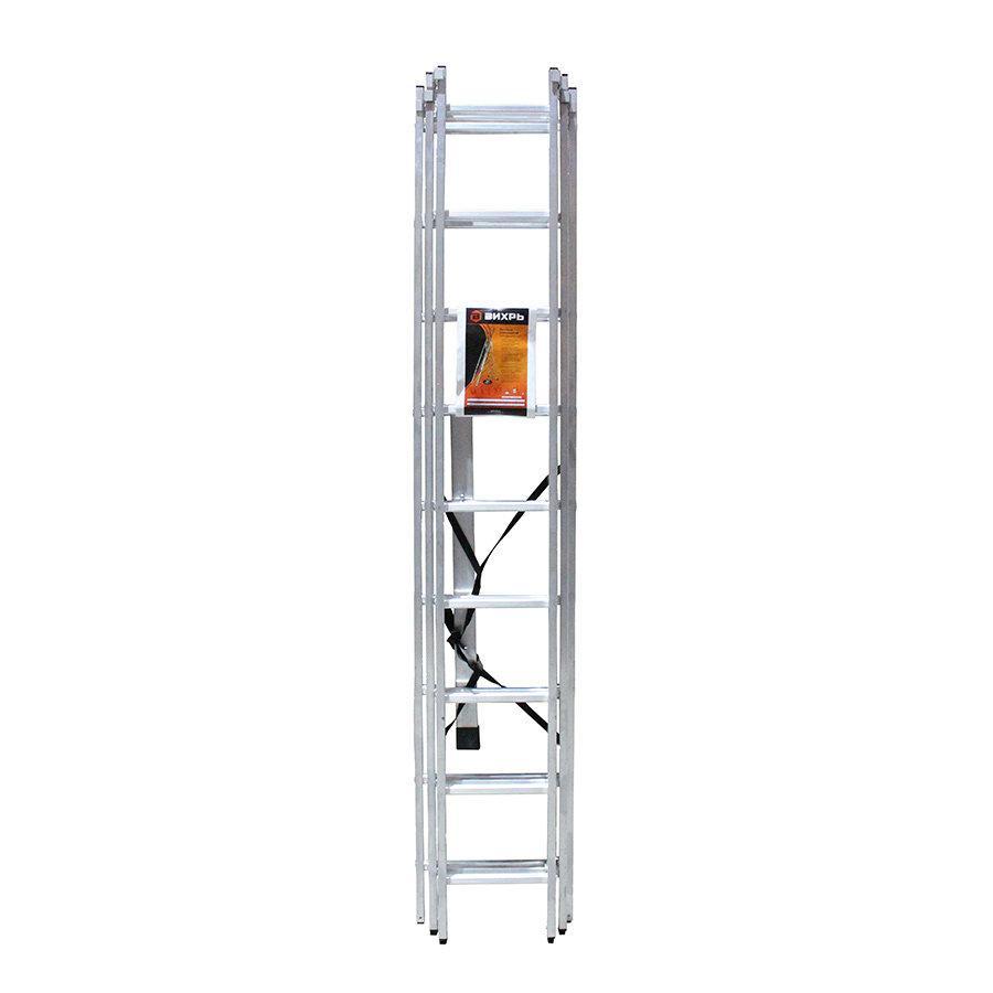 Лестница алюминиевая трёхсекционная ЛА 3х9 Вихрь