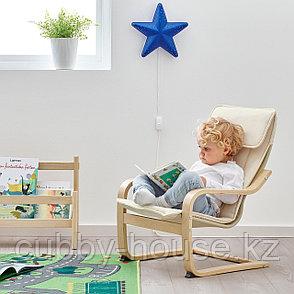 ПОЭНГ Кресло детское, березовый шпон, Алмос бежевый, фото 2