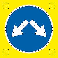 Светодиодный знак 4.2.1,4.2.2,4.2.3, фото 1