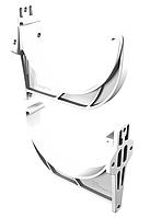 Кронштейн желоба 125x90 мм Белый VINYLON