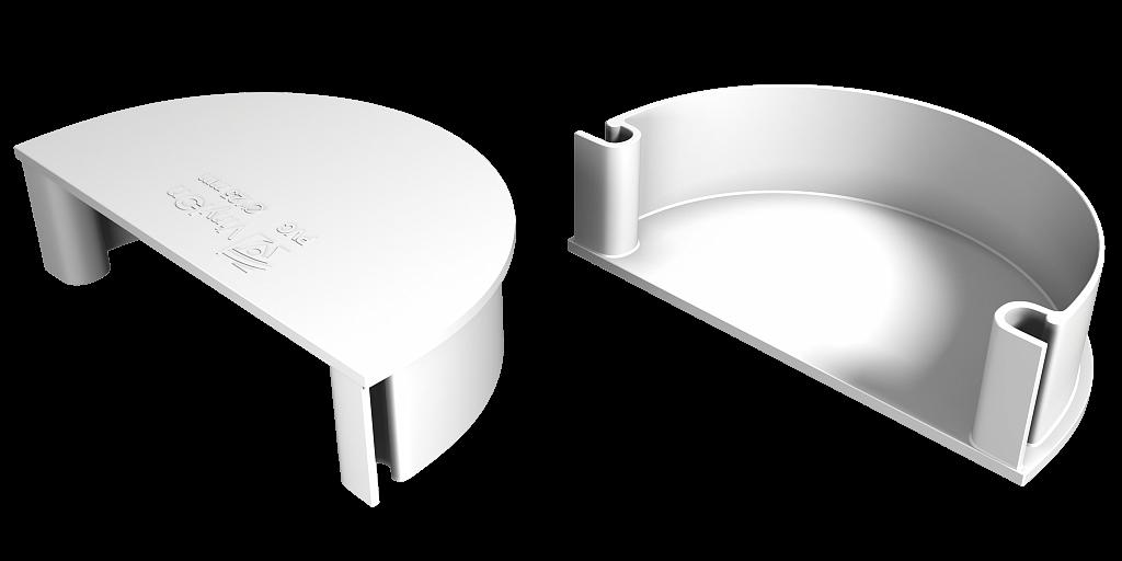 Заглушка воронки универсальная 125x90 мм Белый VINYLON