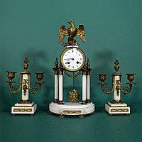 Часовой гарнитур с орлом Империи. В стиле Людовика XVI Часовая мастерская Ad. Mougin