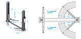 Подъемник двухстоечный, г/п 4т (380В), с электростопорами NORDBERG, фото 2