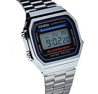 Электронные наручные часы Casio A-168WA-1. Оригинал 100%. Классика. Kaspi RED. Рассрочка