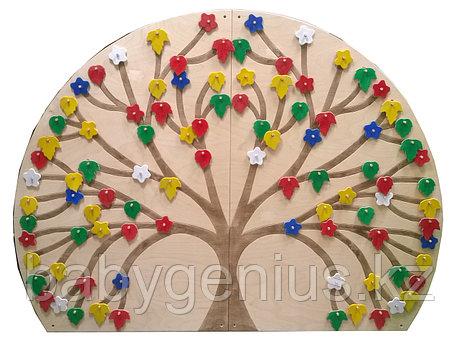 Декоративно-развивающая панель «Времена года», Сенсорная Панель Дерево, фото 2
