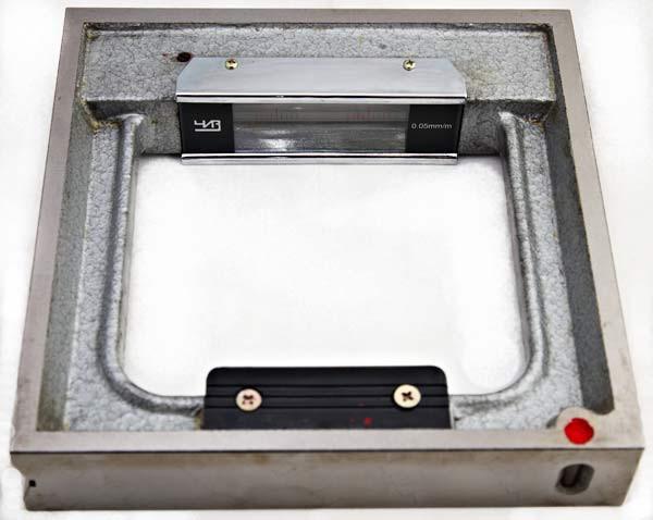 Уровень  с юстировкой ЧИЗ  (УР) рамный 250мм 0,05 мм/м