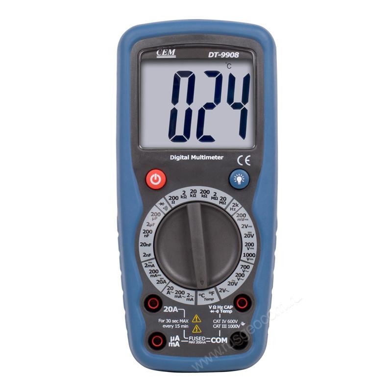 CEM DT-9908 Цифровой мультиметр, высокой точности, с функцией           термометра.