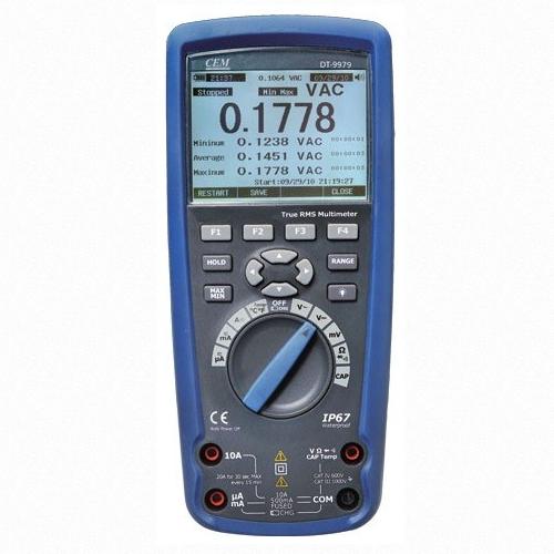 CEM DT-9979 цифровой мультиметр в двойном пластиковом корпусе, IP67, True RMS