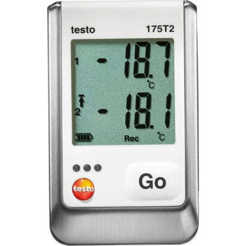 Testo 175 T2 2х-канальный логгер данных температуры с внутренним сенсором (NTC) и разъемом для внешнего зонда