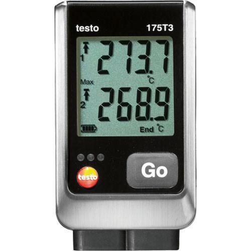 Testo 175 T3 2х-канальный логгер данных температуры с разъемами для внешних зондов  (т/п типов Т и К)  Testo 1