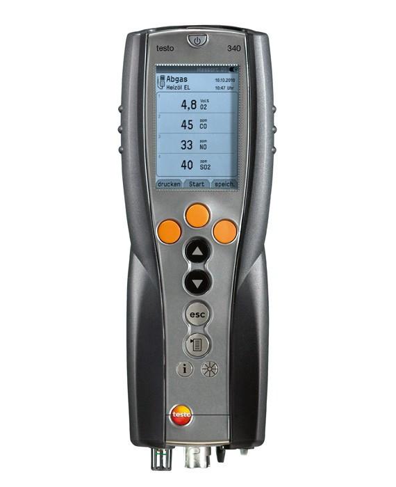 Testo Газоанализатор testo 340  стандартный трехсенсорный (O2+CO+NO) комплект без зонда